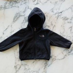 Black Zipper Hoodies, Size 3-6 Months